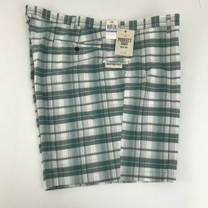Dockers Big & Tall Green Plaid Perfect Shorts NWT